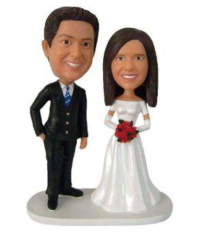 Портретные свадебные фигурки